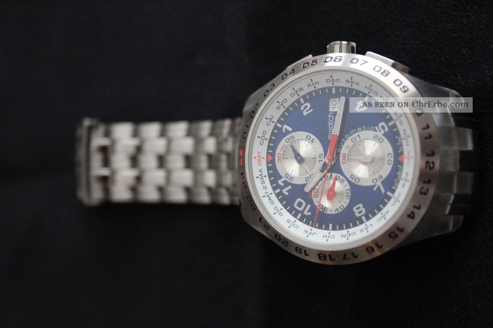 Swatch Irony Blunge - Svgk400g - Automatik Chronograph Armbanduhren Bild