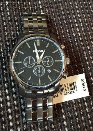 Fossil Herrenuhr Bq1278 Uhr Armbanduhr Chronograph Edelstahl & Ovp Bild