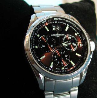 Jacques Lemans G126d - Geneve Chronograph,  Swiss Made,  Sapphire,  100m,  Ovp Bild