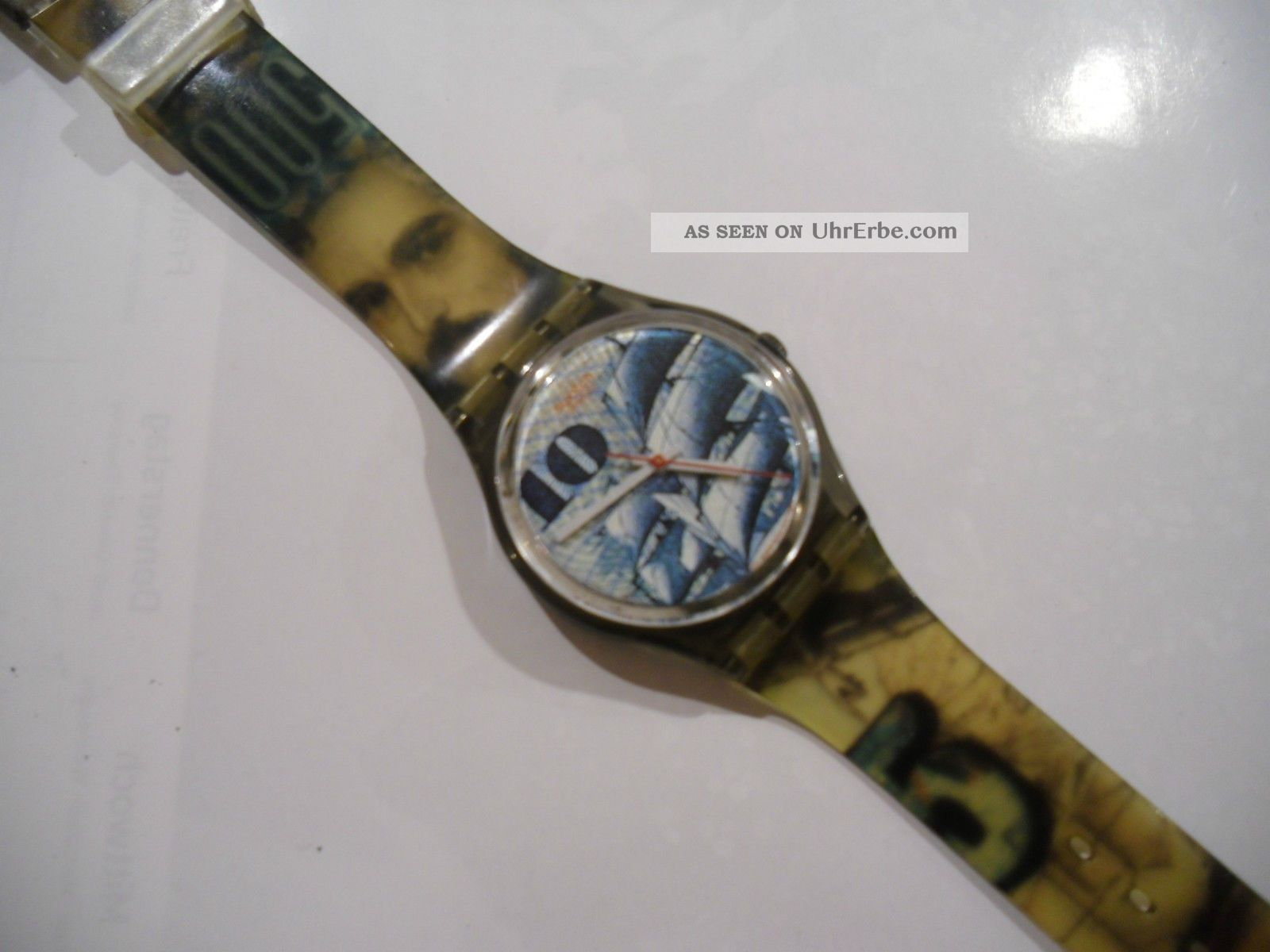 Swatch Uhr 10 Dm Ag 1990 Mit Neuer Batterie Armbanduhren Bild