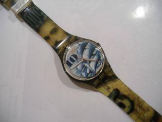 Swatch Uhr 10 Dm Ag 1990 Mit Neuer Batterie Bild