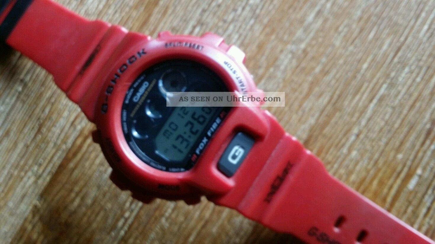 Casio G - Shock 1289dw - 6900,  Retro Bj.  99 Sammlerstueck In Rot Armbanduhren Bild