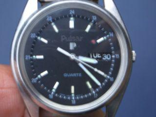 Seltene Pulsar Herren Armbanduhr Gut Erhalten Läuft Gut. Bild