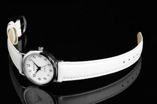 Neue Klassische Excellanc Quarz Analog Damenuhr Herrenuhr Leder Armbanduhr Weiß Bild