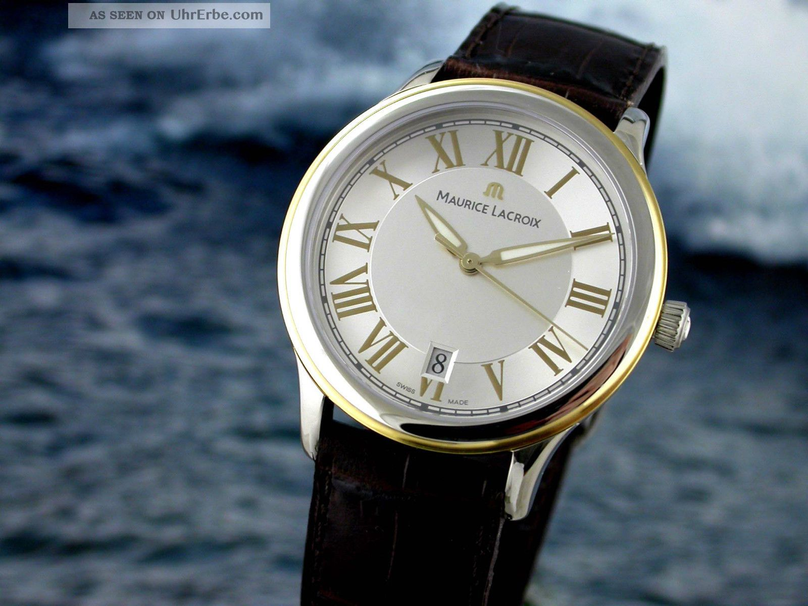 Orig.  Maurice Lacroix Herrenuhr Classic St Gold Armbanduhren Bild