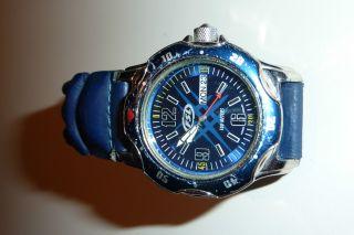 Fossil Armbanduhr,  Blau Mit Lederarmband - Anschauen Bild