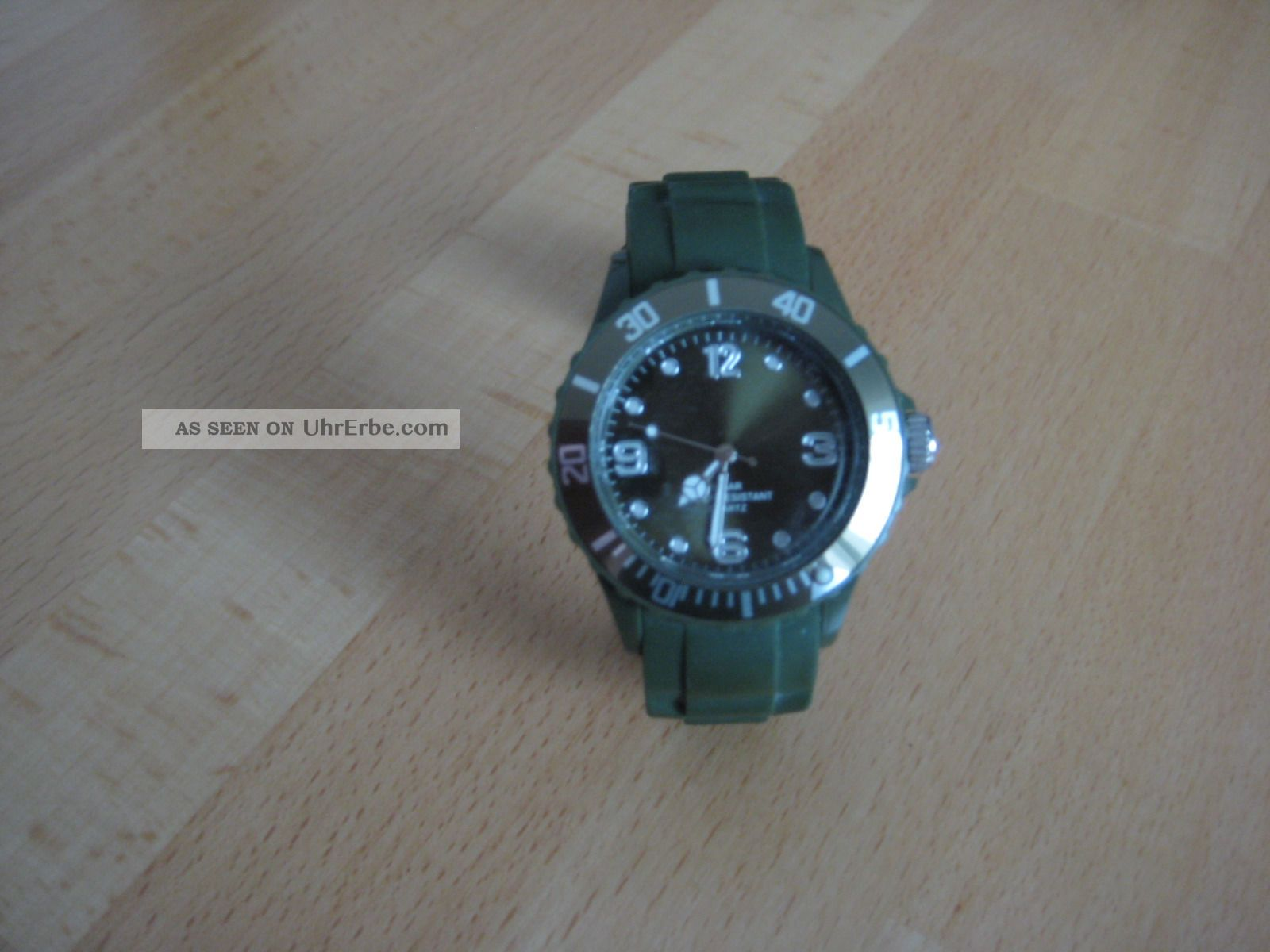 Armbanduhr,  Navygrün,  Unisex,  Mit Silikonarmband Armbanduhren Bild