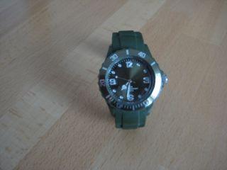 Armbanduhr,  Navygrün,  Unisex,  Mit Silikonarmband Bild