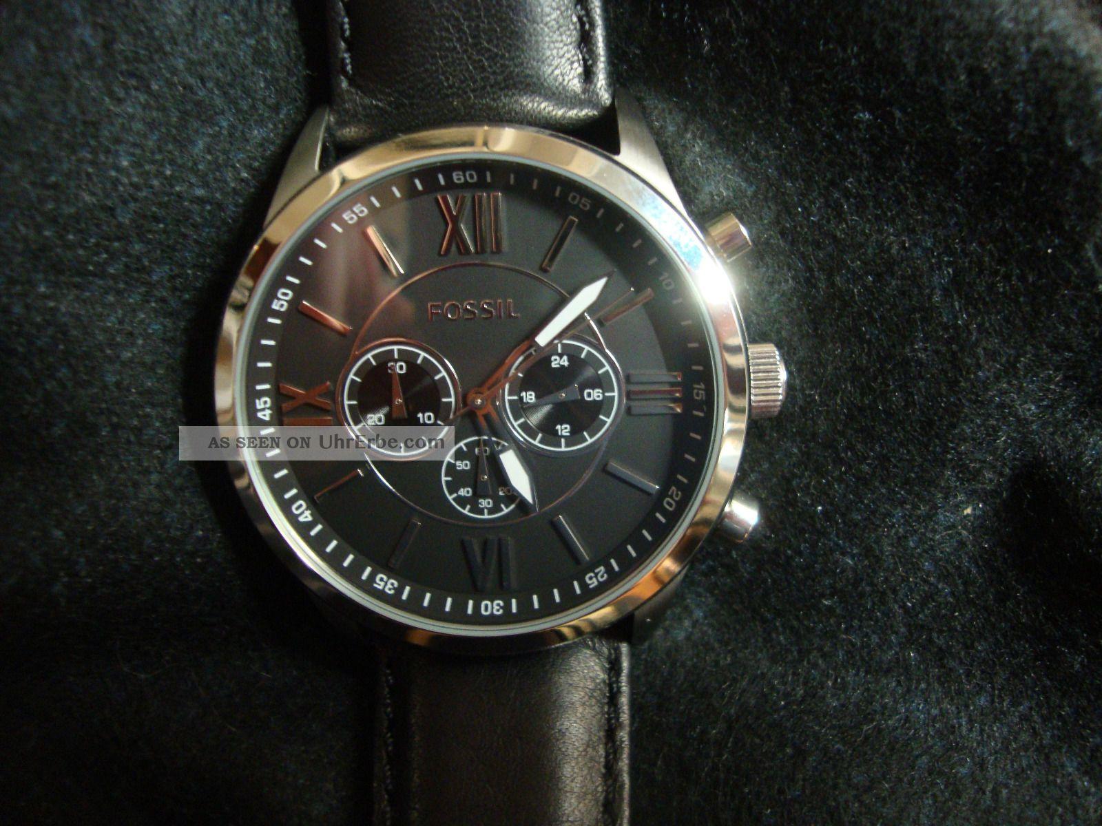 2 J Mit 1130 Silber Fossil Uhr Bq Chronograph Herren Schwarz USMpqzV