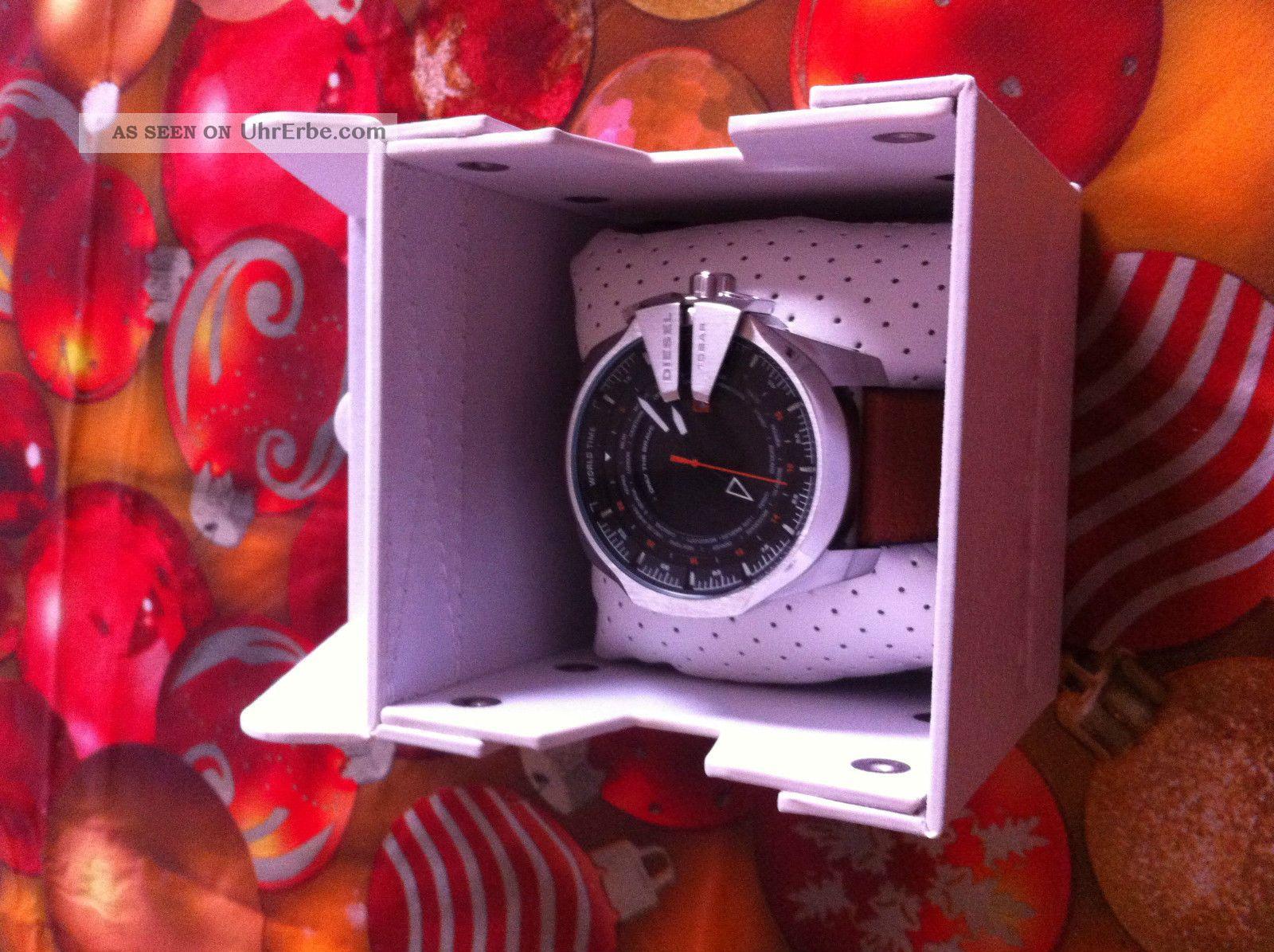 Uhr Diesel Mega Chief World Time Quarzuhr,  Dz - 4321 111407 Armbanduhren Bild
