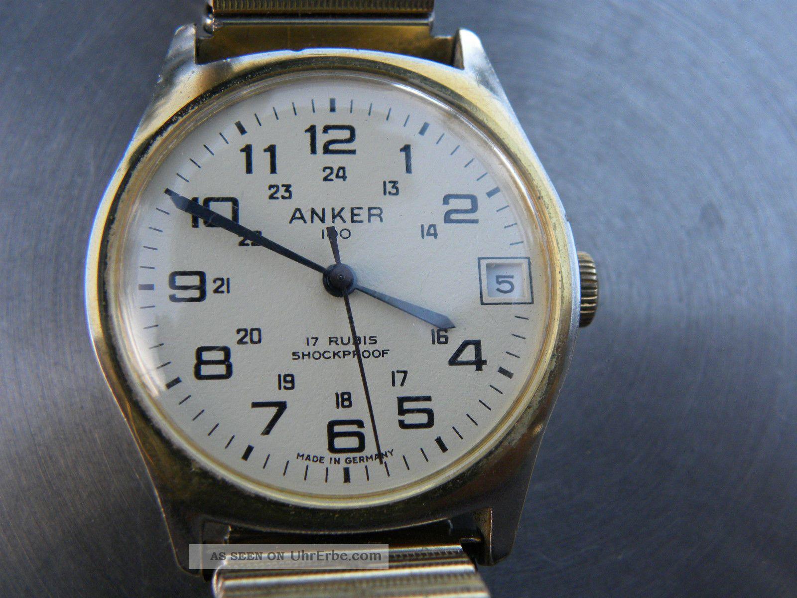 Anker 100 17 Rubis Handaufzug Armbanduhren Bild