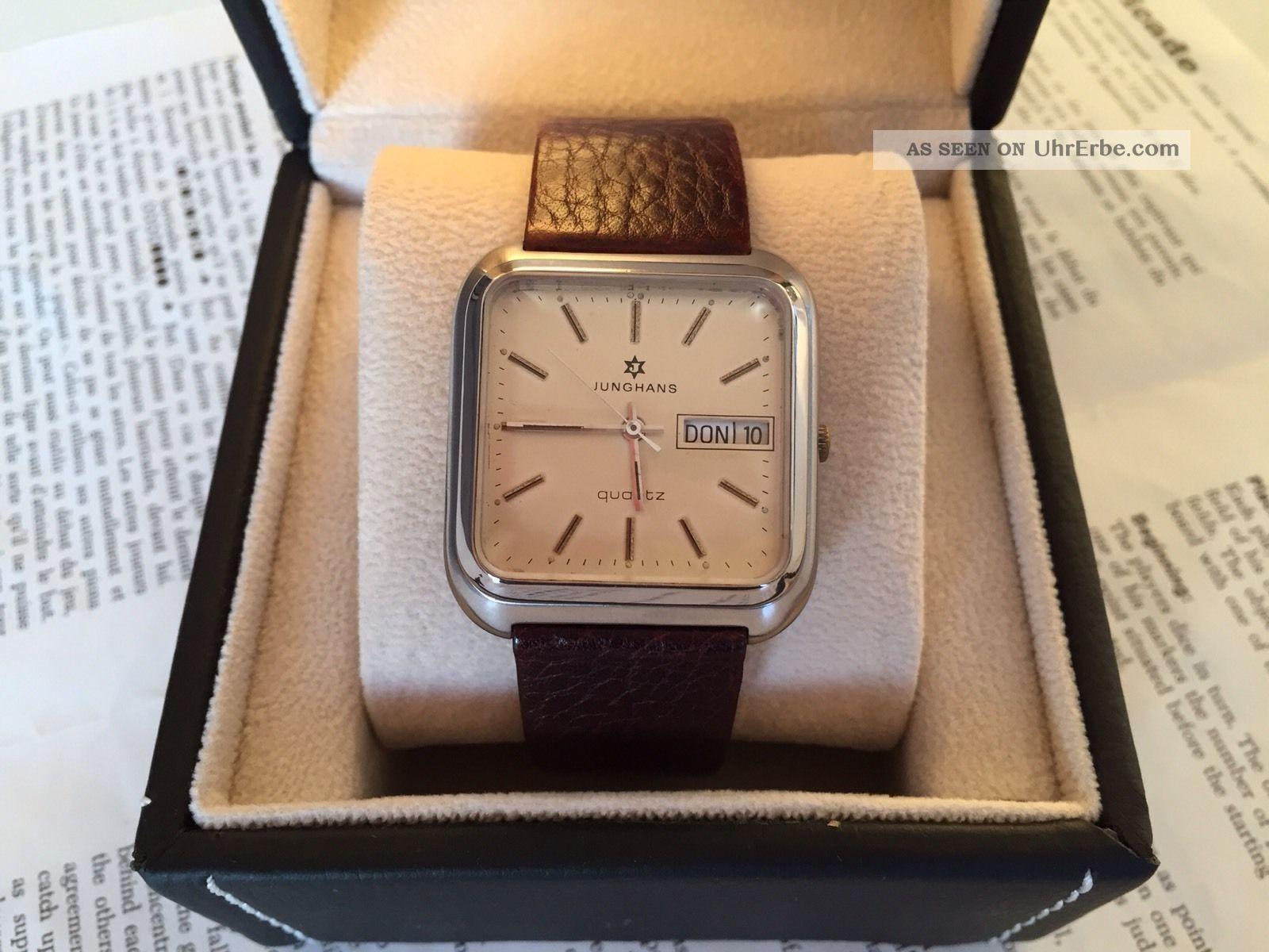 Junghans Armbanduhr Daydate Quarz,  Vintage Look Armbanduhren Bild