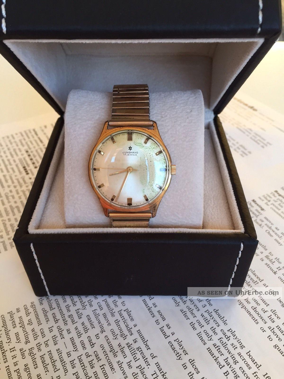 Junghans Armbanduhr Vintage,  Handaufzug,  Unisex Armbanduhren Bild