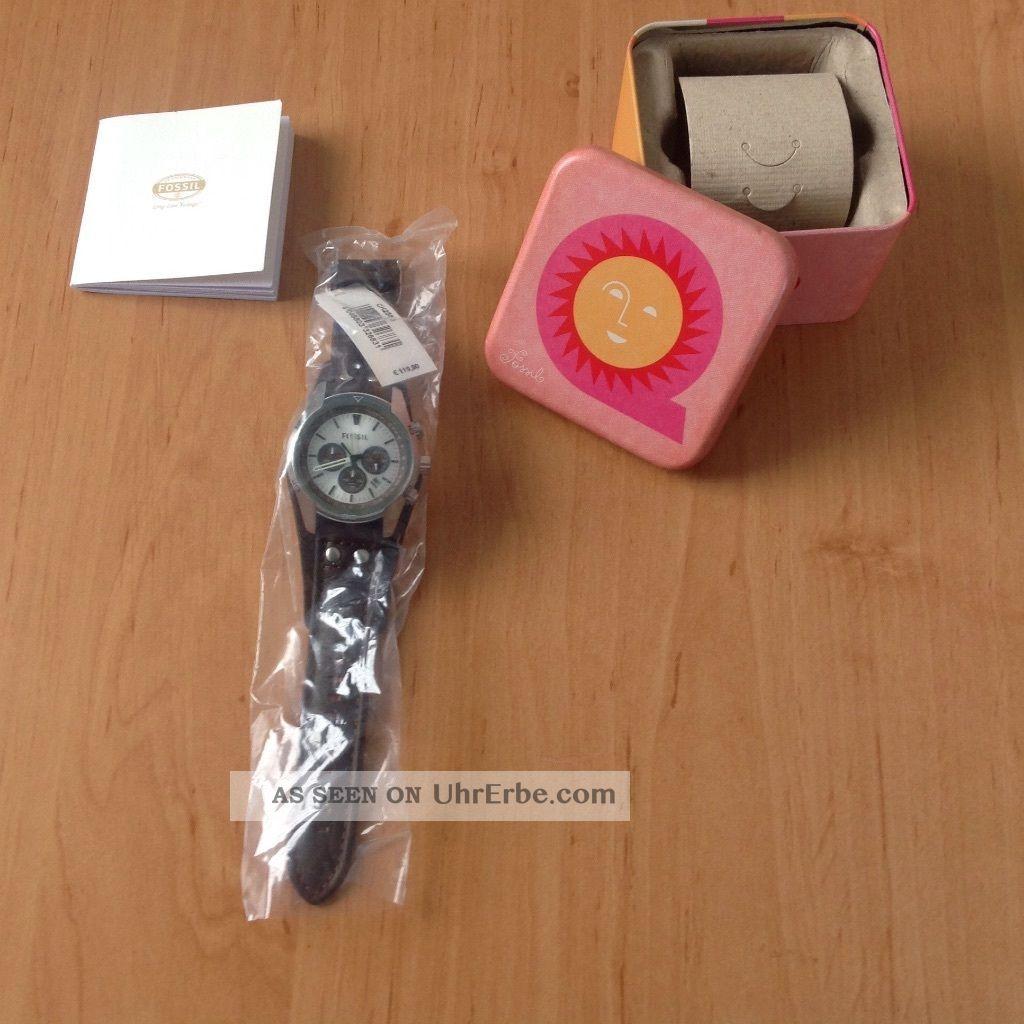 Fossil Armbanduhr Für Herren (ch 2665) Coachman Chronograph Leder - Braun Armbanduhren Bild