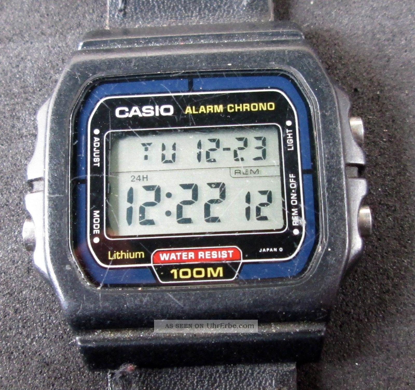 Casio Alarm Chronograph,  Herrenarmbanduhr,  Digitalanzeige,  Uhr Läuft, Armbanduhren Bild