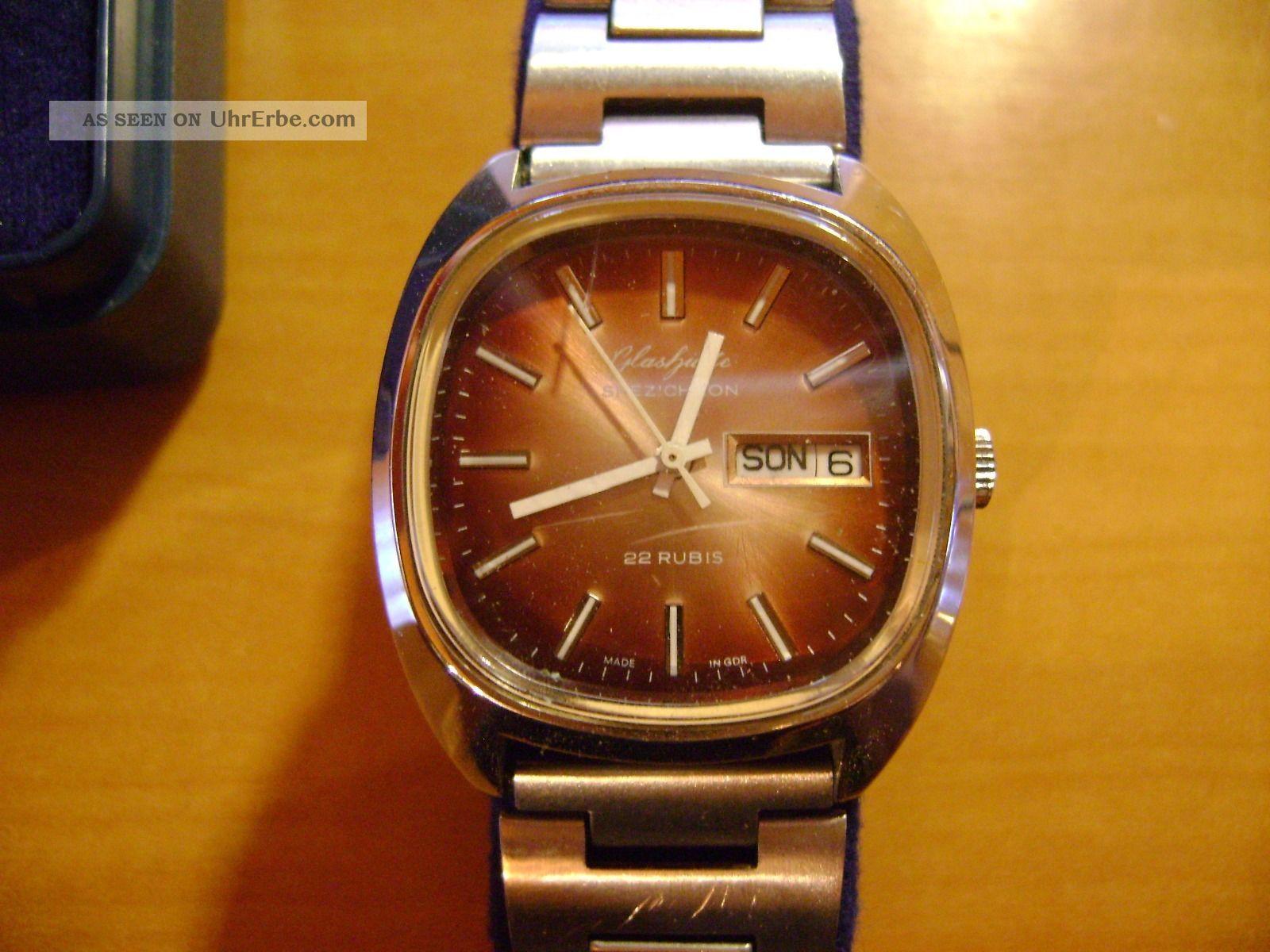 Glashütte Armbanduhr Automatik Spezichron 22 Rubin,  Zk Der Sed Ehrengeschenk Armbanduhren Bild
