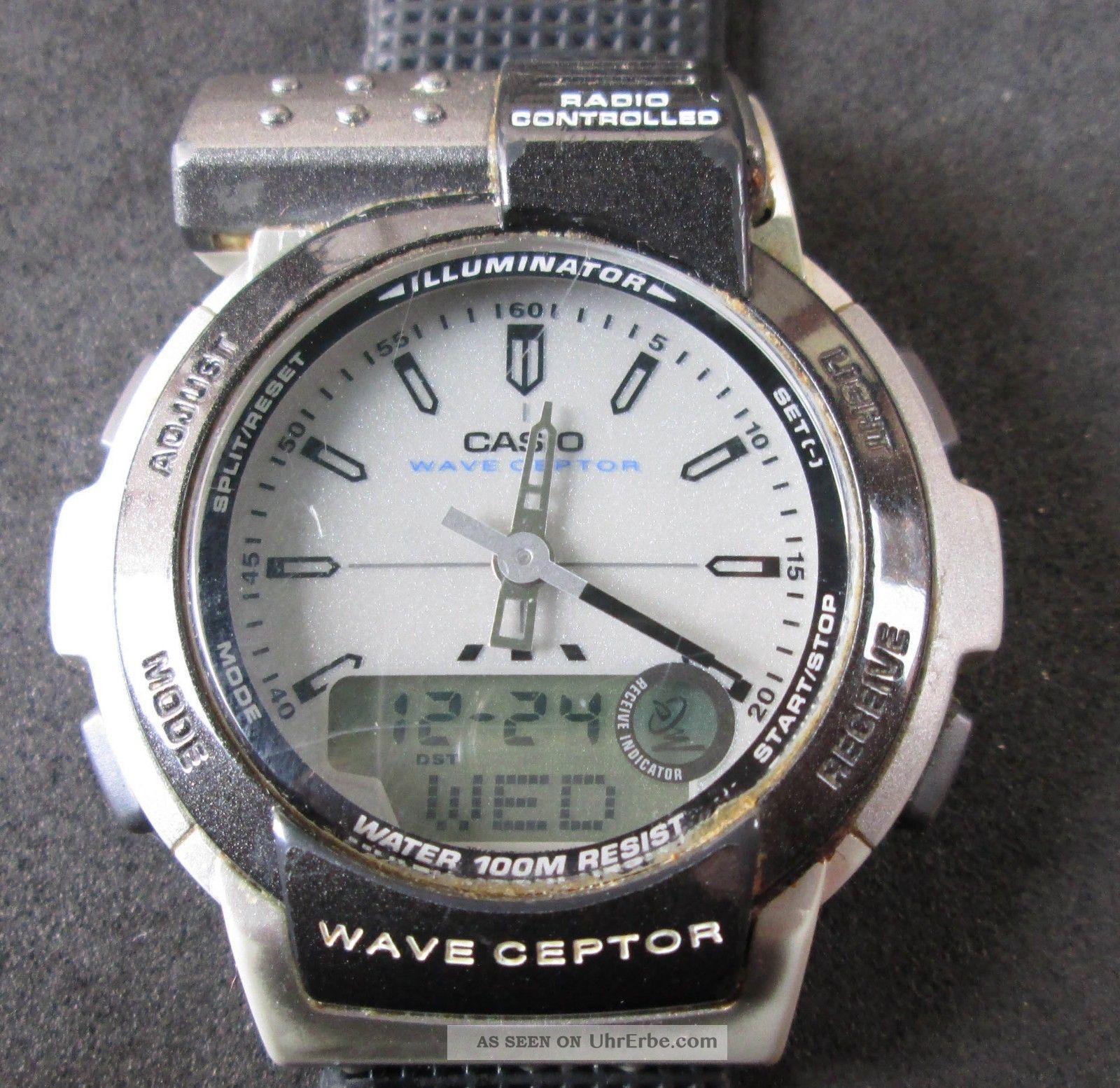 Casio Wave Ceptor Funkuhr,  Radio Controlled,  Analog/digitalanzeige,  Uhr Läuft, Armbanduhren Bild
