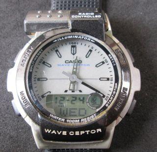 Casio Wave Ceptor Funkuhr,  Radio Controlled,  Analog/digitalanzeige,  Uhr Läuft, Bild