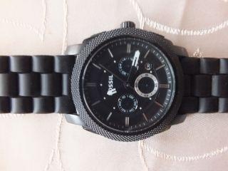 Fossil Herrenuhr Chronograph Schwarz Uhr Bild