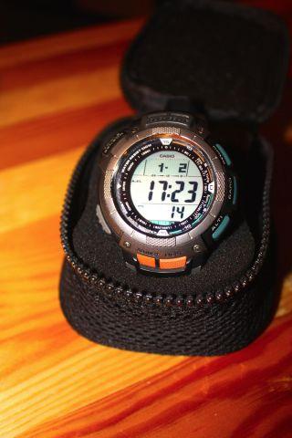 Casio Pro Trek Prg - 80 - 1ver Armbanduhr Für Herren Bild