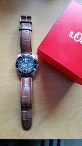 Chronograph Soliver Time So - 381 - Lc Armbanduhr Für Herren - Top - Mit Ovp Bild