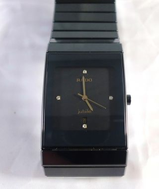 Rado Diastar Jubile Hau Gross 32 X 24 Mm 4 Diamanten Ref.  152.  0347.  3 Bild