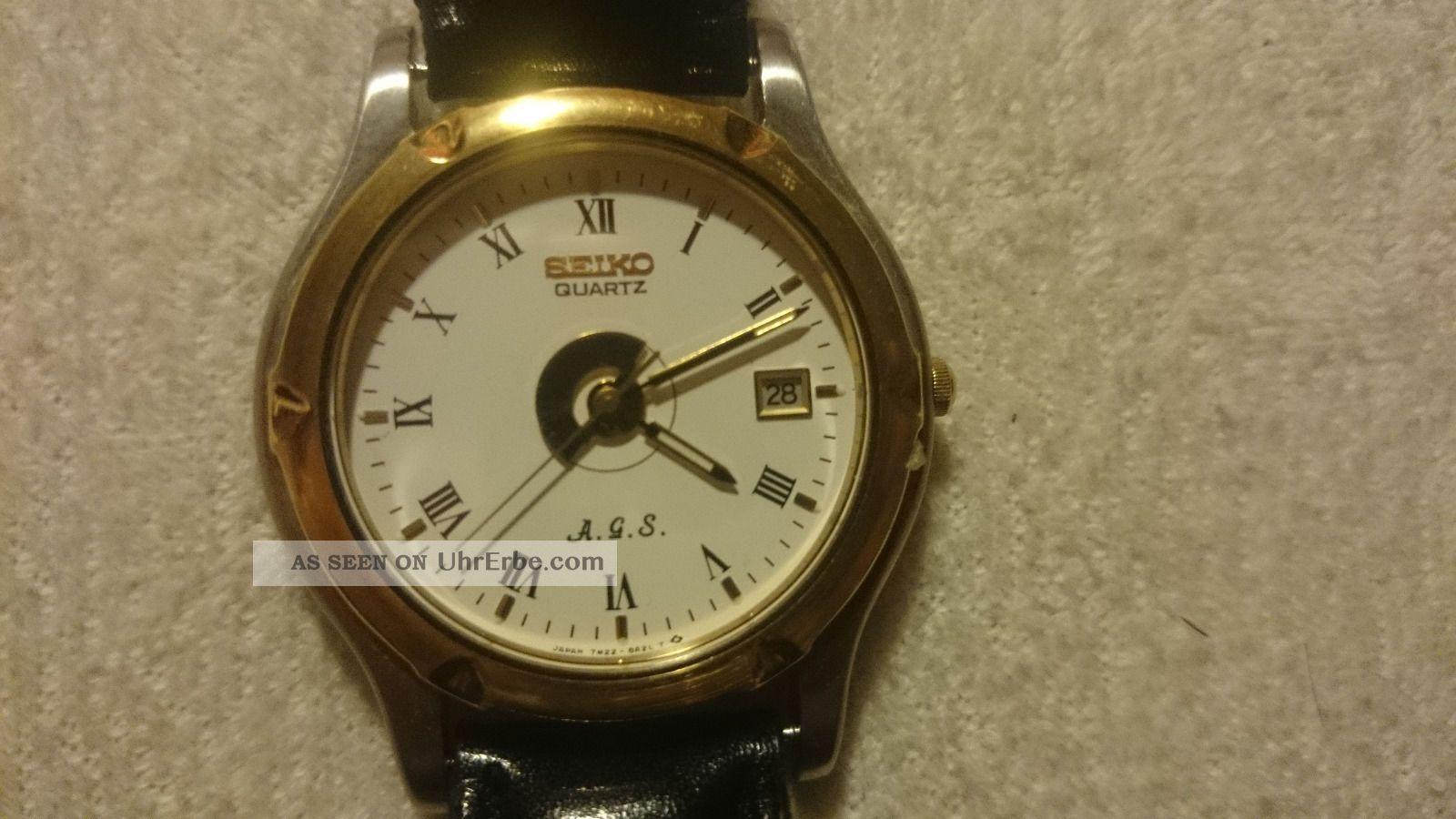 Seiko Kinetic Modell A.  G.  S.  7m22 Armbanduhren Bild