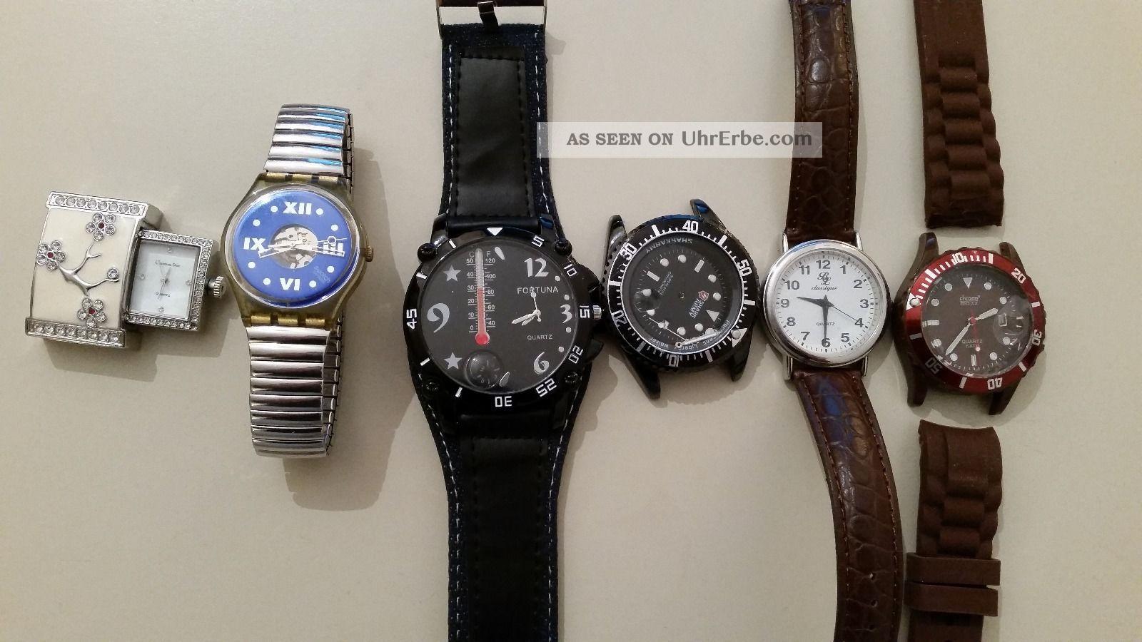 Uhren Konvolut Swatch,  Dior Armbanduhren Bild