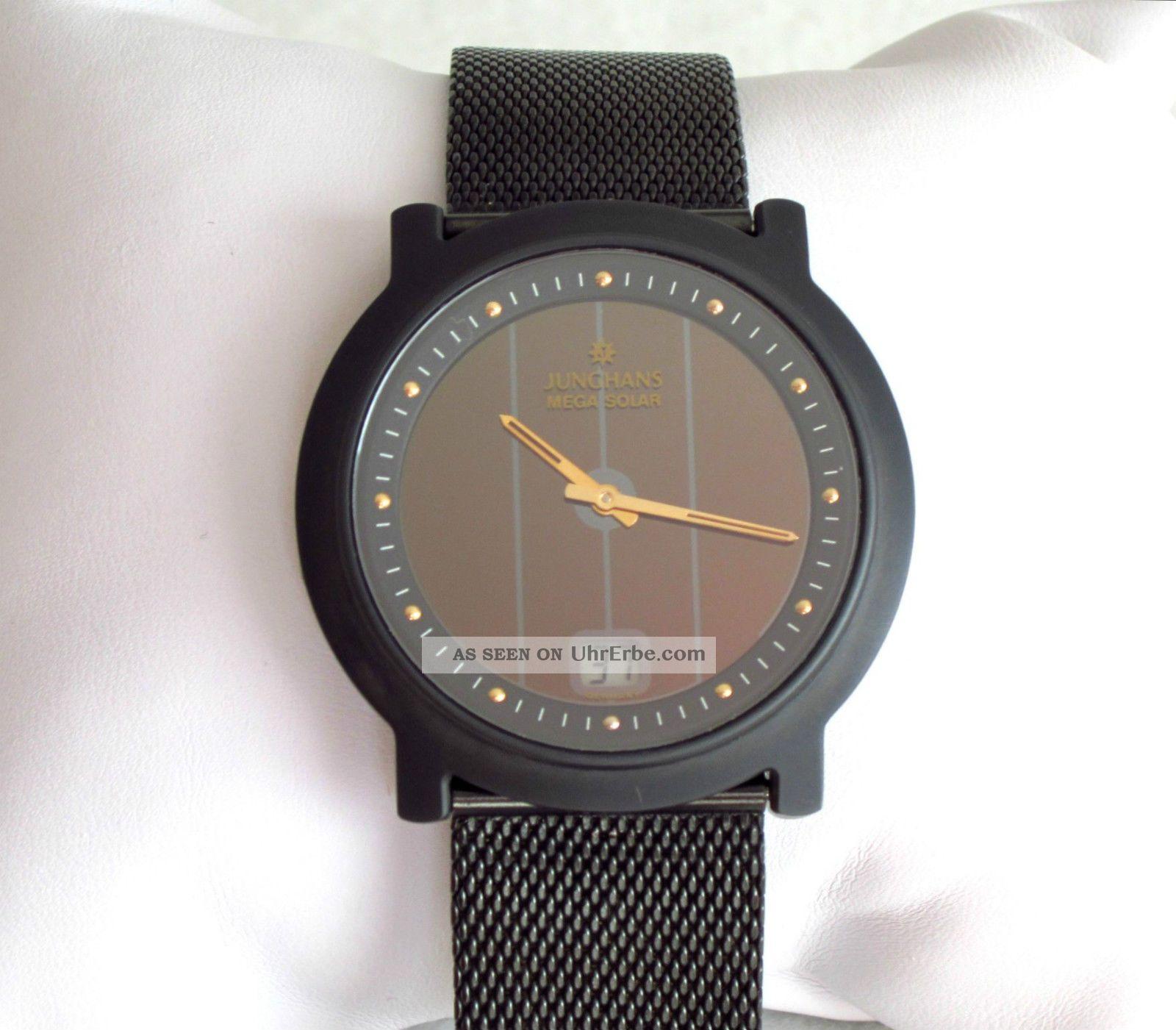 Junghans Mega Solar Ceramic Funkuhr Mit Milanaiseband Armbanduhren Bild