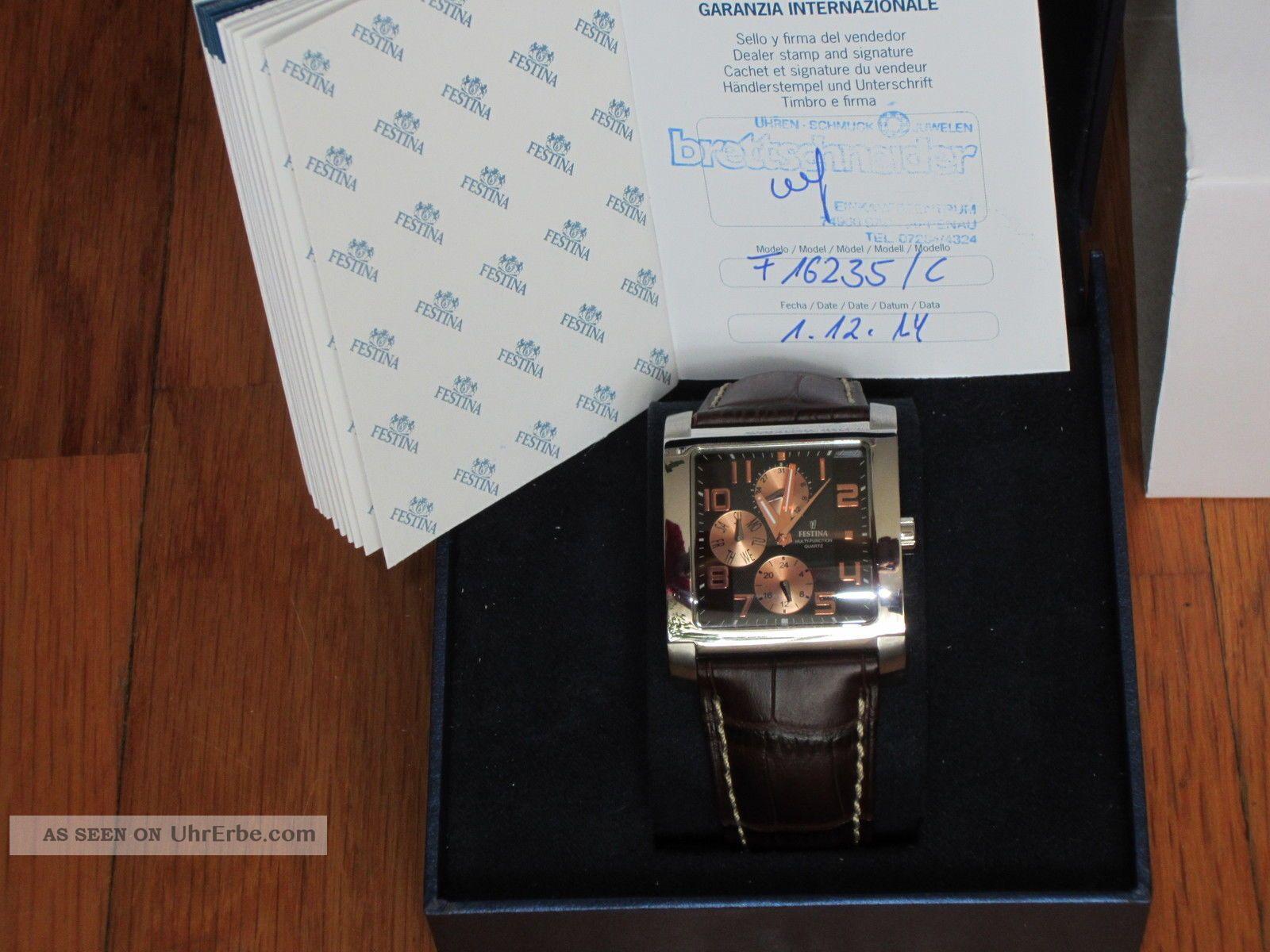 Festina Sport Multifunktion Datum Herrenuhr F16235/c Armbanduhr Uhr Herren Armbanduhren Bild