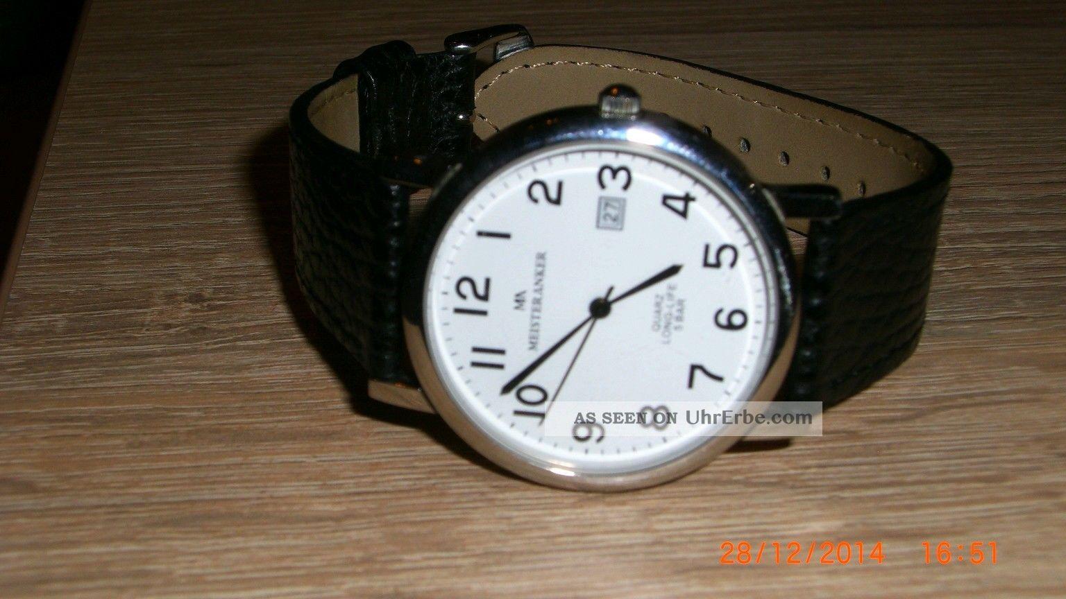 Meister - Anker Quartz Armbanduhr Lederarmband Armbanduhren Bild