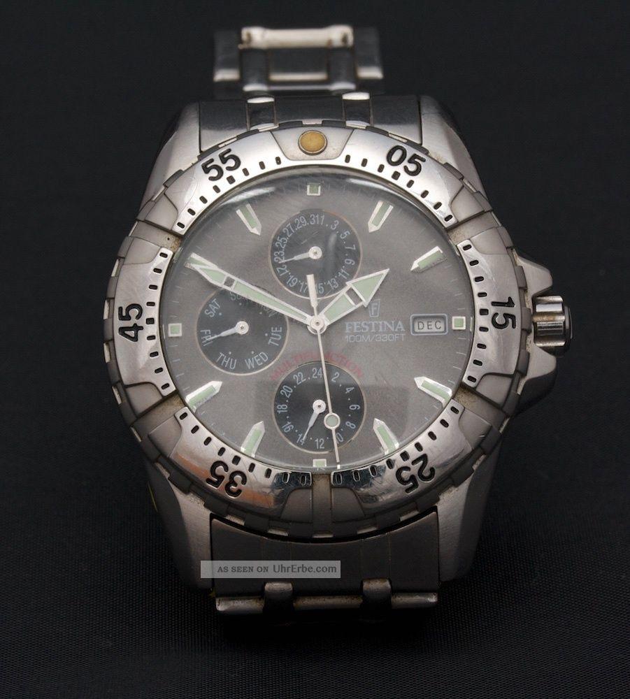 Herren Armbanduhr - Festina - Edelstahl Armbanduhren Bild