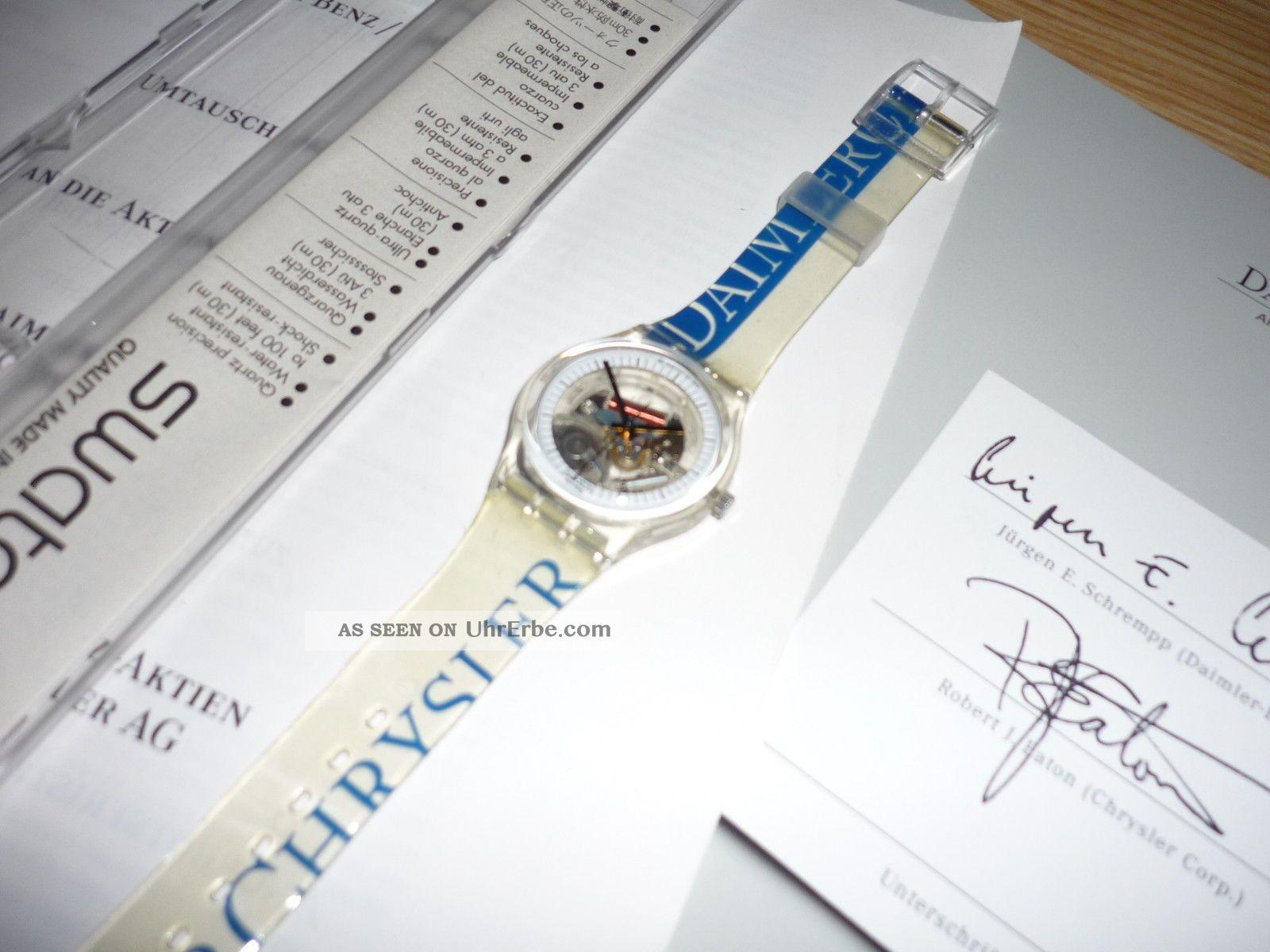 Swatch Sammlerstück Daimler Chrysler Uhr Mit Unterlagen Armbanduhren Bild