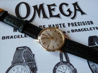 Vintage Omega Seamaster De Ville Herrenarmbanduhr Bild