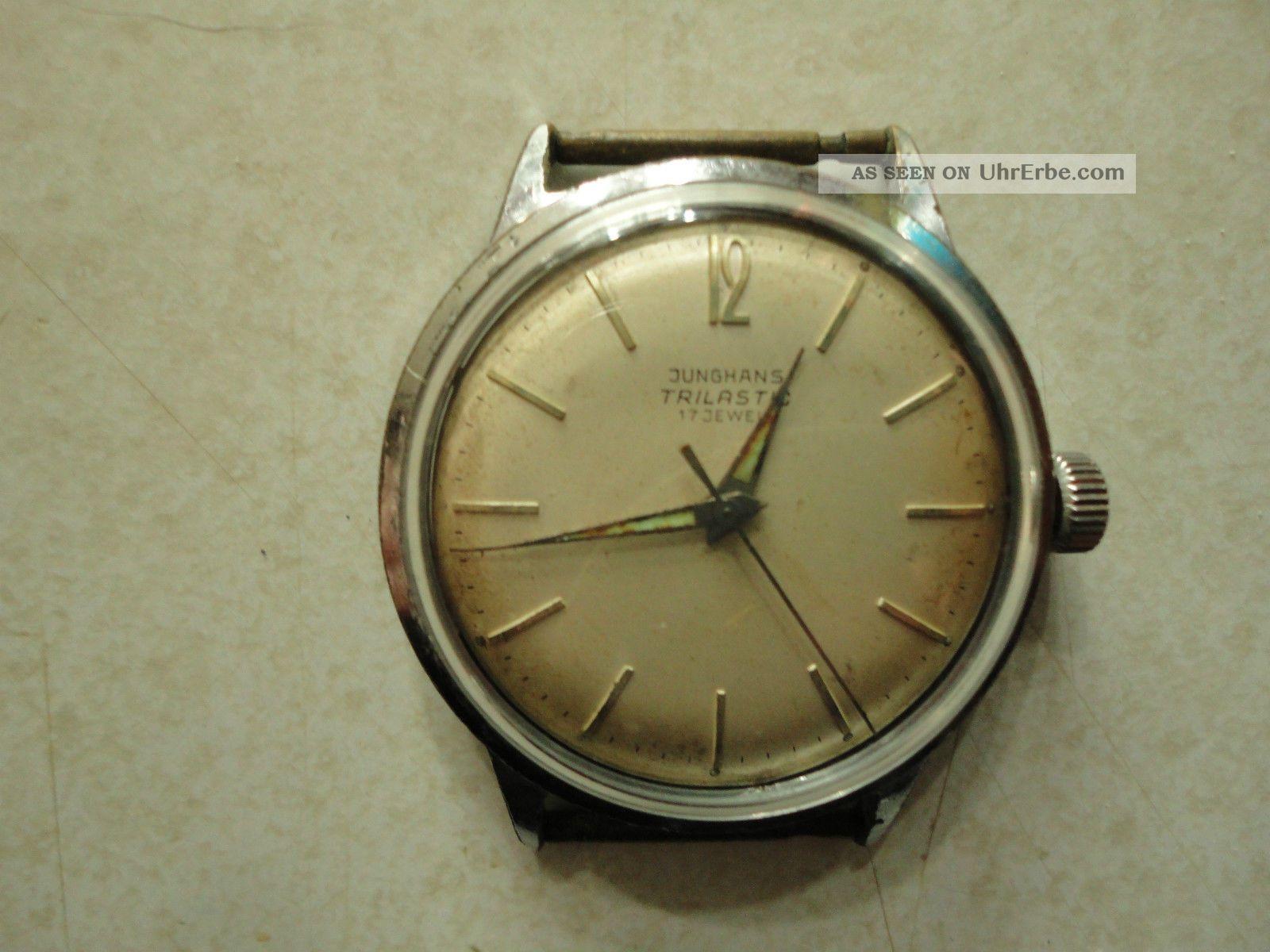 Junghans Trilastic 17 Jewels,  Edelstahlgehäuse,  Handaufzug. Armbanduhren Bild