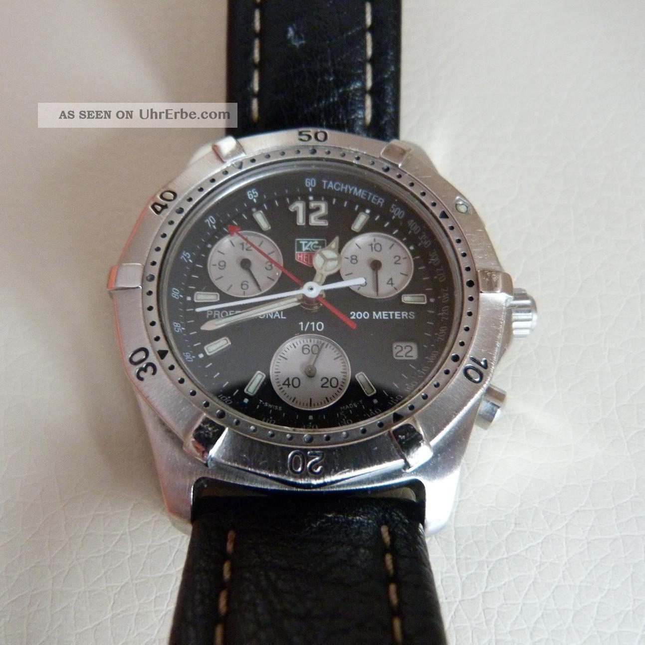 Tag Heuer Herren Uhr Professional Schweiz Luxusuhr Chronograph Armbanduhren Bild