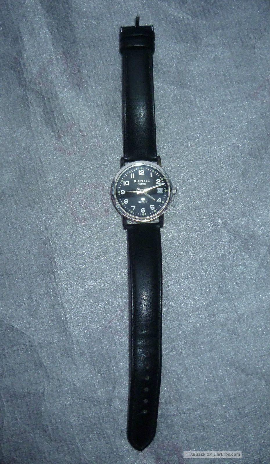 Kienzle/ Herren - Armbanduhr,  Mit Lederarmband,  Schwarz,  Neuwertig Armbanduhren Bild