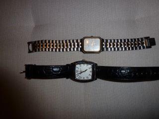 Uhr Herren Armbanduhr Antik Alt Quartz Stainless Steel Water Proof Leder Uhren Bild