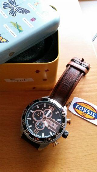 Chronograph Fossil Ch 2559 Armbanduhr Für Herren - Top - Mit Ovp Bild