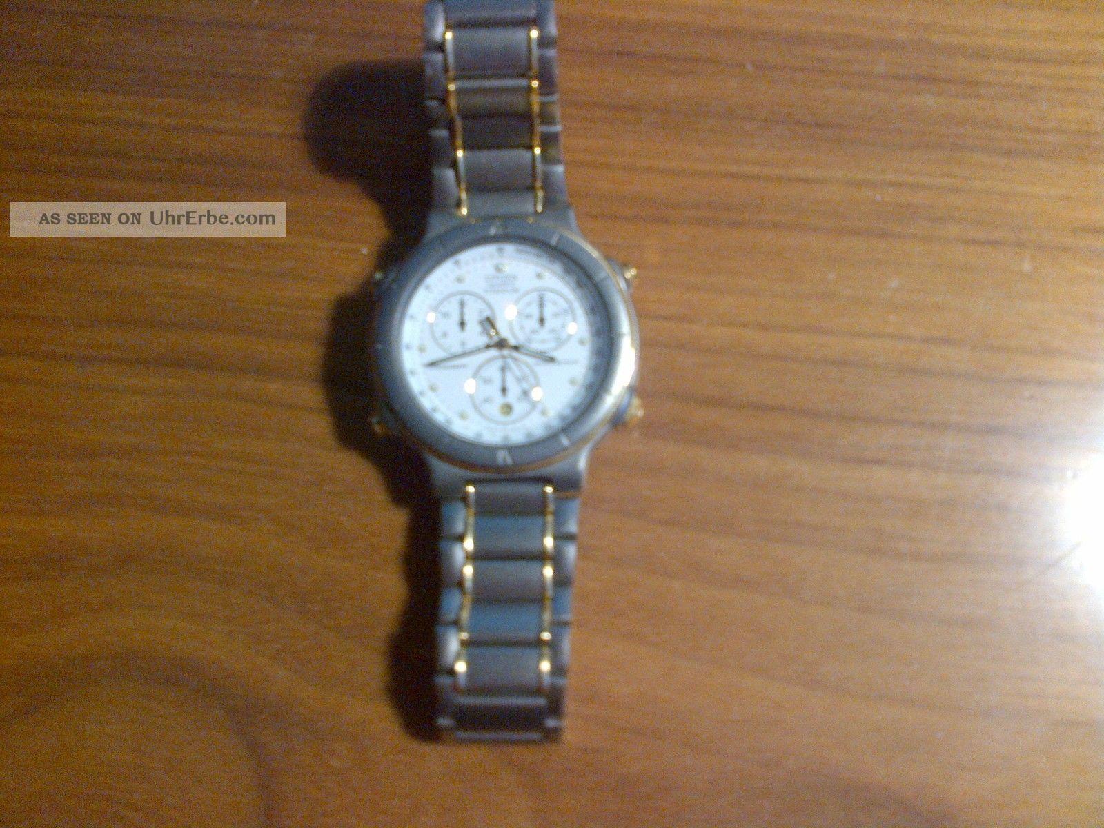 Citizen Quartz Titanium Herren Armbanduhr Chronograph Analog Armbanduhren Bild