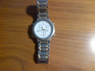 Citizen Quartz Titanium Herren Armbanduhr Chronograph Analog Bild