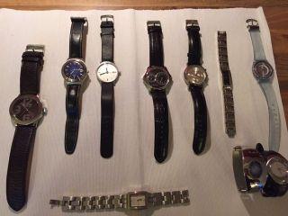 Damen Herren Armband Uhren Konvolut 10 Stück U.  A.  Esprit Oozoo Swatch Bild