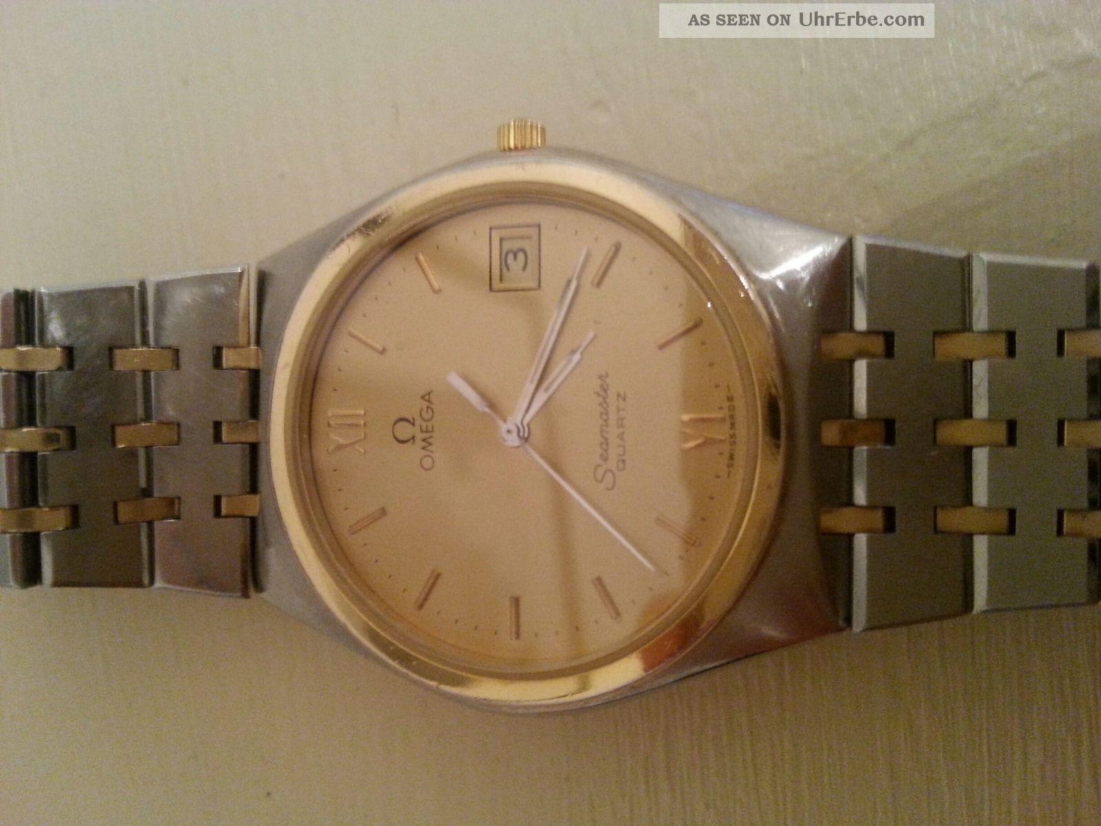 Omega Seamaster Quartz Herrenuhr Bicolor Stahl / Gold Schöner,  Läuft Gut Armbanduhren Bild