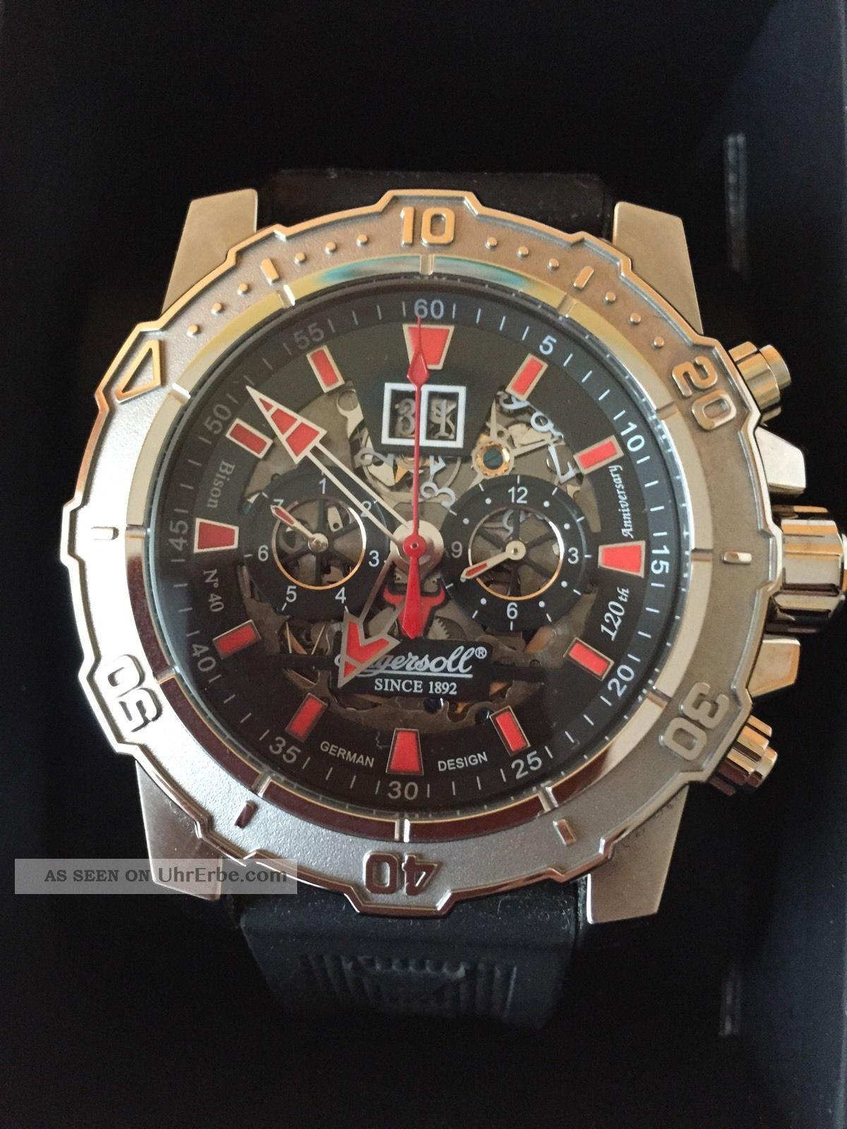 Ingersoll Herren Armbanduhr Bison No.  40 Limited Edition Schwarz In3217sbk Armbanduhren Bild