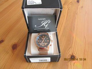 Armbanduhr Ingraham Calcutta Edelstahl Mit Automatik Uhrwerk Bild