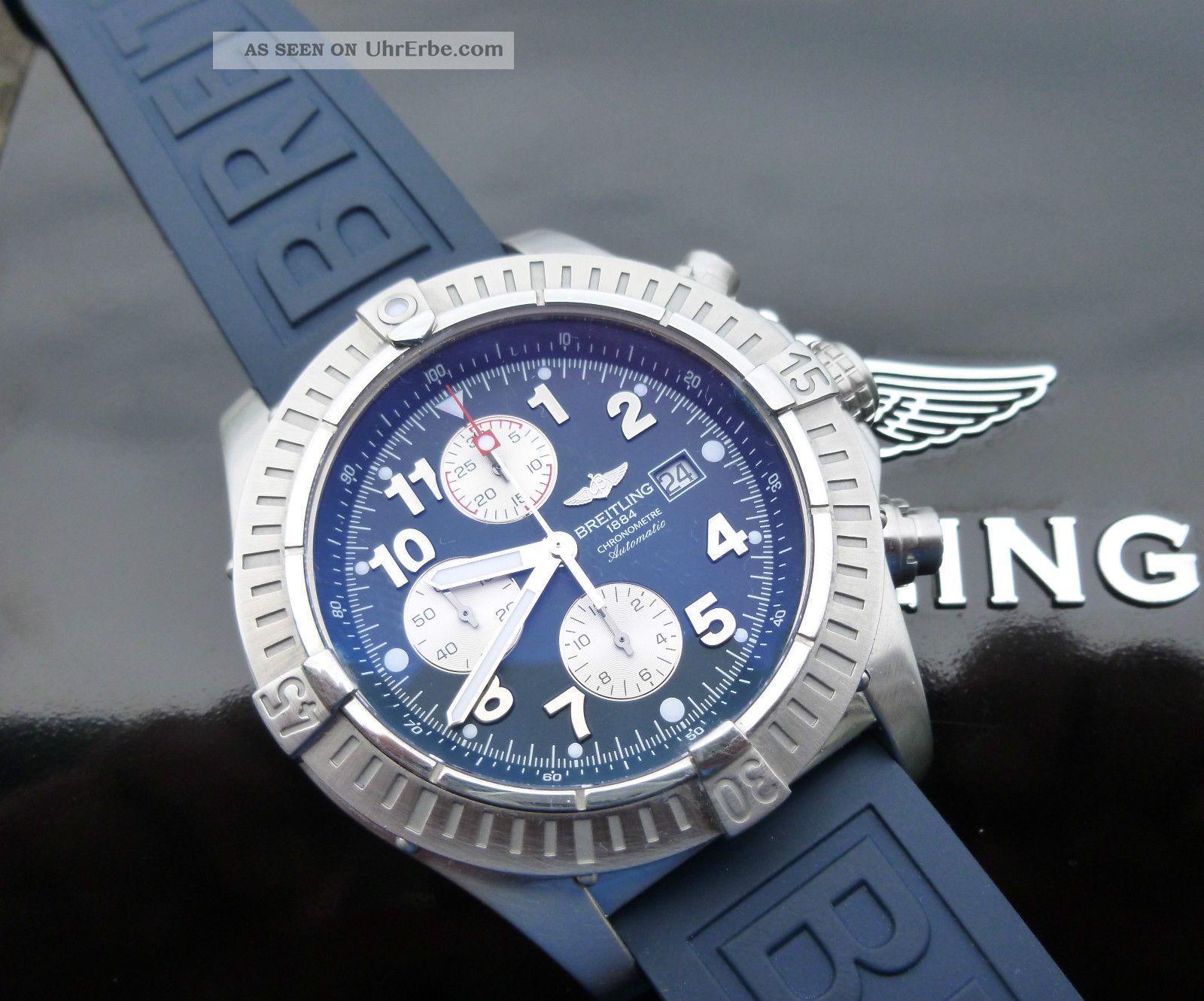 Breitling Avenger A13370 - 2x Bänder - Plus 2 Weitere Bänder Armbanduhren Bild
