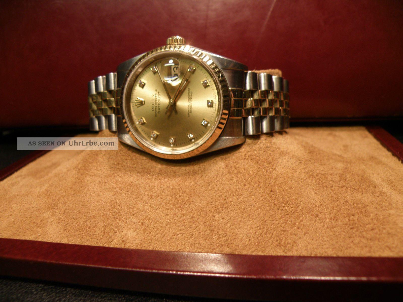 Rolex Oyster Perpetual Automatic Mit Diamantzifferblatt Armbanduhren Bild