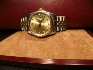 Rolex Oyster Perpetual Automatic Mit Diamantzifferblatt Bild