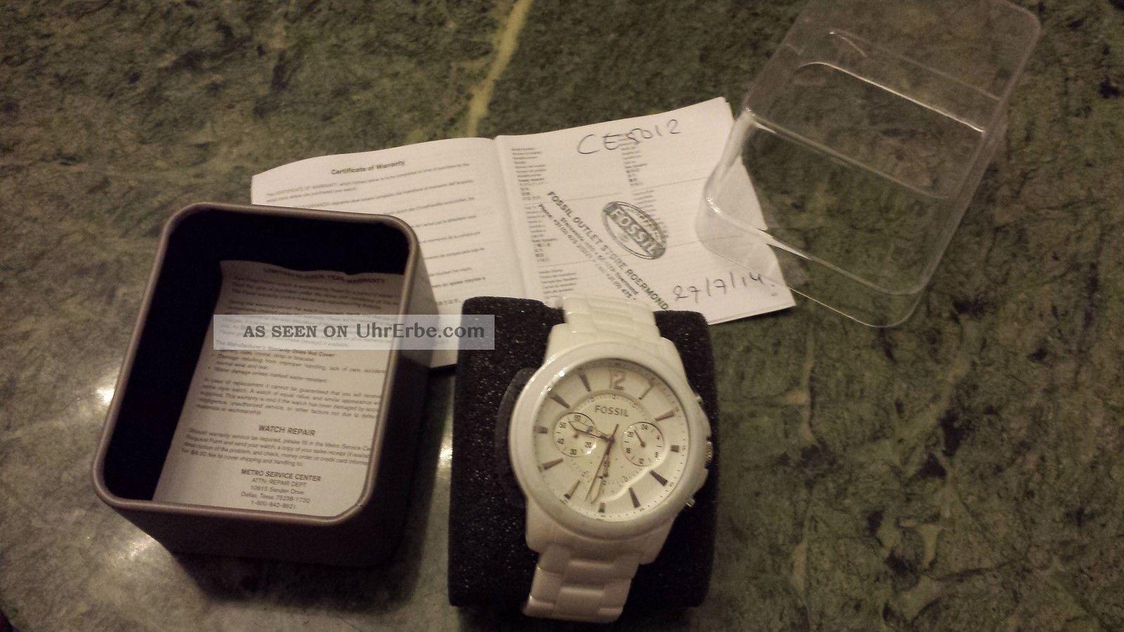 Fossil Uhr Ce5012 Keramik Unisex Armbanduhren Bild