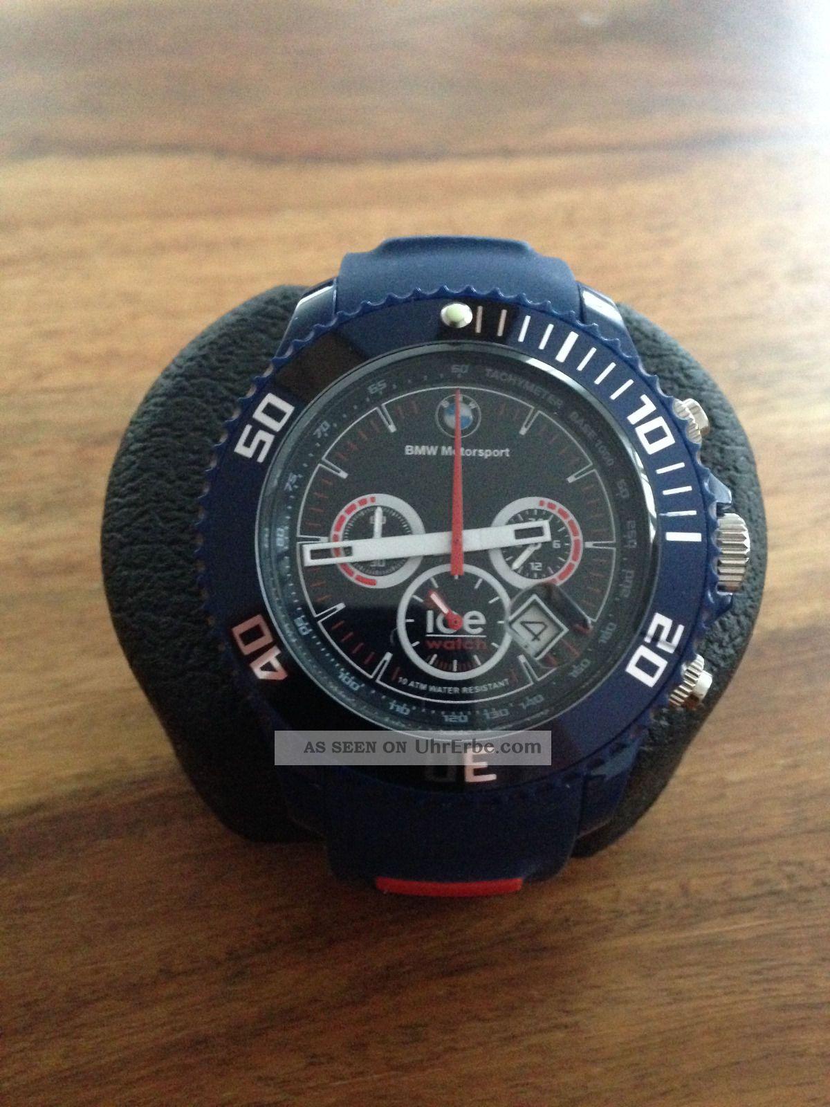 bmw motorsport uhr chronograph ice watch big. Black Bedroom Furniture Sets. Home Design Ideas